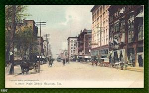 Main Street, Houston, TX, 1907