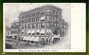Main and Preston Sts., Houston, TX, 1907