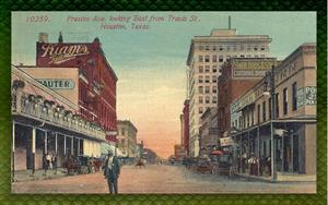 Preston Ave. looking east from Travis St., Houston, TX.  Early 20th c.